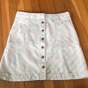 Pilcro & the letterpress A-line retro mini skirt